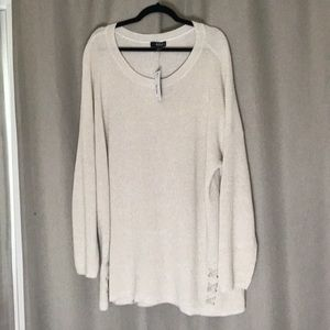 🌟NWT🌟 ANA Woven Sweater Cream and Gold